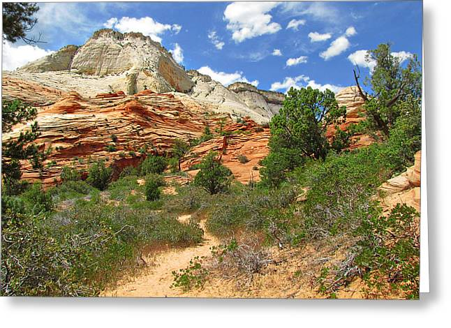 Zion National Park - A Picturesque Wonderland Greeting Card
