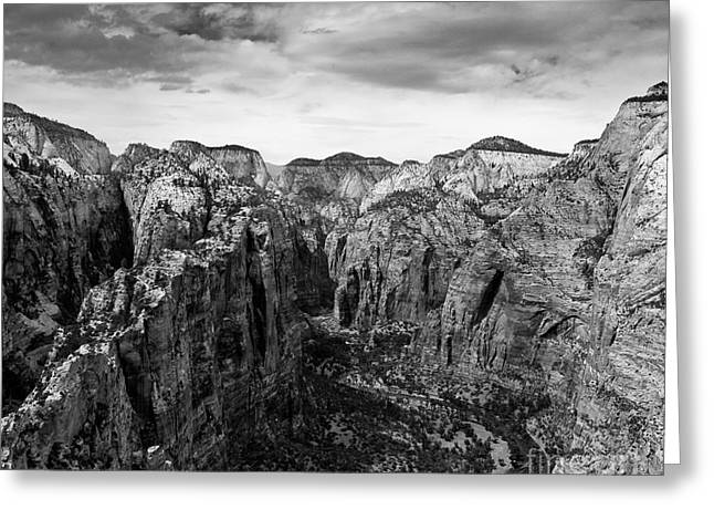 Zion National Park - View From Angels Landing Greeting Card