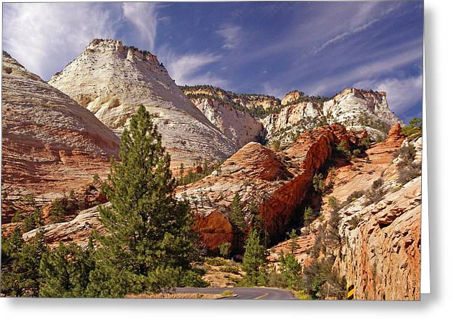 Greeting Card featuring the photograph Zion Np by Rod Jones
