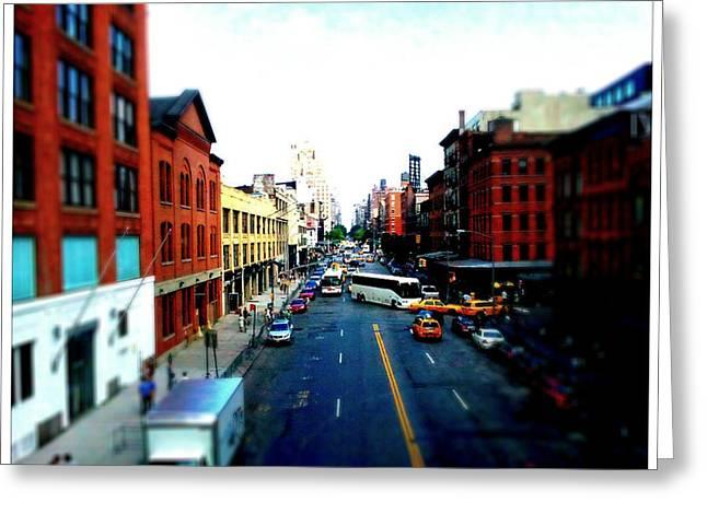 Zip New York Greeting Card by Lynn Wohlers
