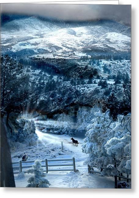 Ziriel's Window Greeting Card by Ric Soulen