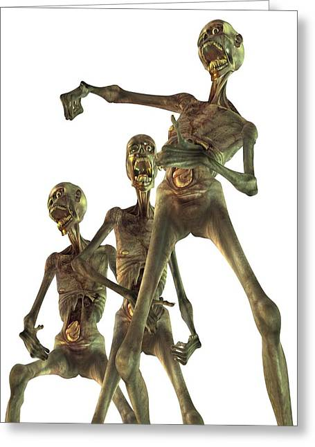 Zombies, Artwork Greeting Card