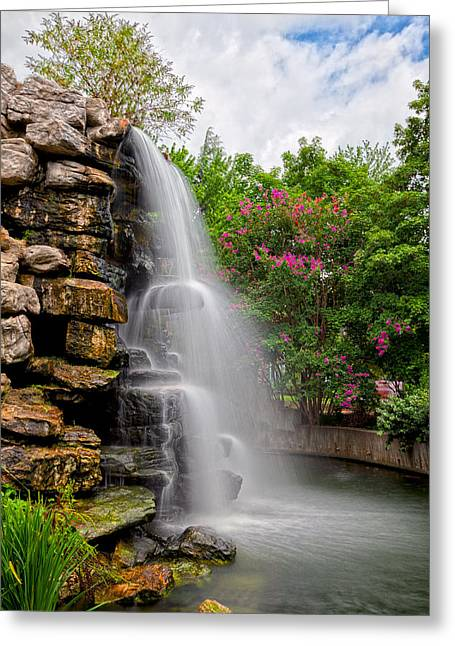 Zoo Waterfall Greeting Card