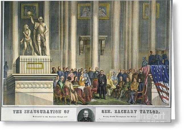 Z.taylor: Inauguration Greeting Card