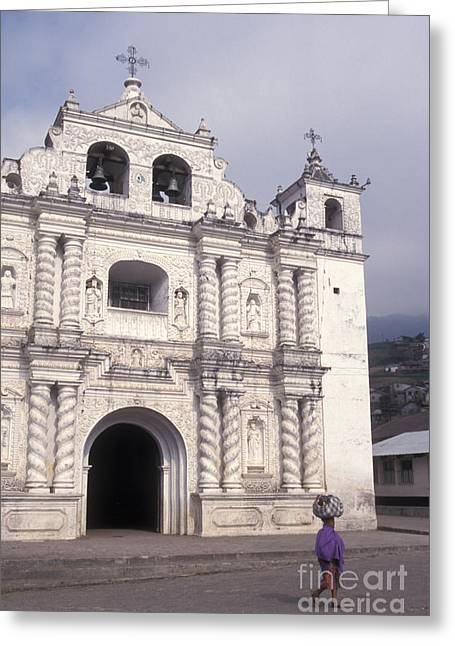 Greeting Card featuring the photograph Zunil Church Guatemala by John  Mitchell