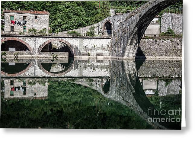 The Devil's Bridge - Borgo A Mozzano #4  Greeting Card by Richard Smukler