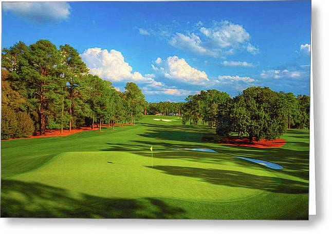 # 1 Tea Olive  445 Yards Par 4 Greeting Card by Don Kuing
