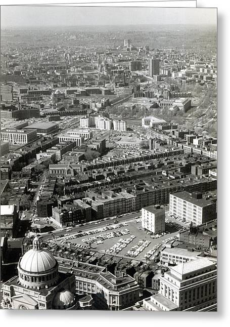 1965 Aerial View Of Boston No.1 Greeting Card by Historic Image