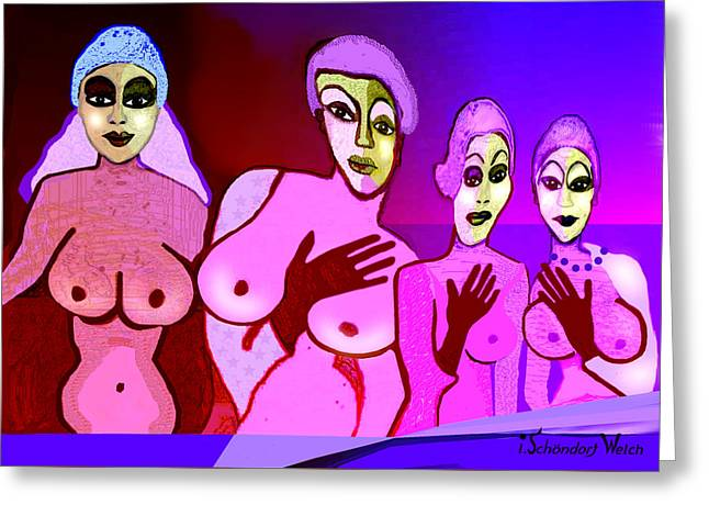 521 - Fine New Tits  Greeting Card by Irmgard Schoendorf Welch