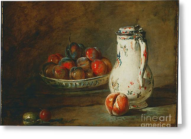 A Bowl Of Plums Greeting Card by Celestial Images