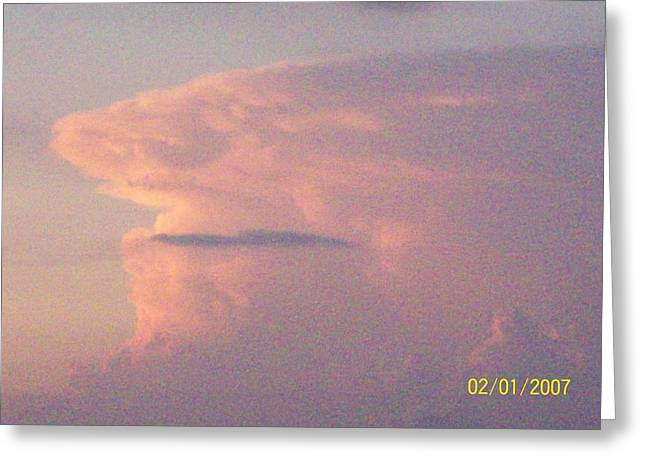Greeting Card featuring the photograph  A Natural Face Cloud by Robin Coaker