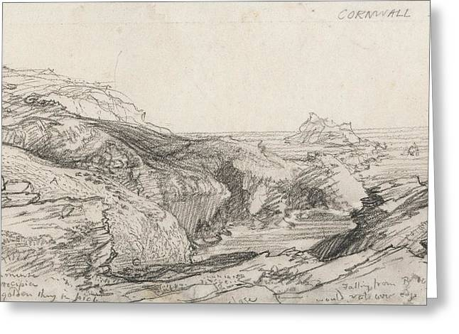A Page From A Cornish Sketchbook - Cornwall 32  Greeting Card by Samuel Palmer
