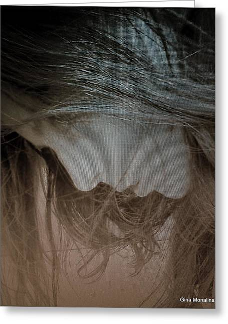 A Self Portrait Greeting Card by Gina Monalina
