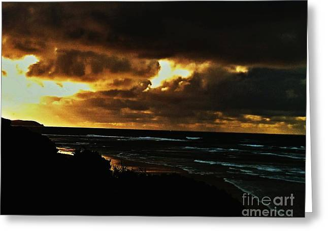 A Stormy Sunrise Greeting Card