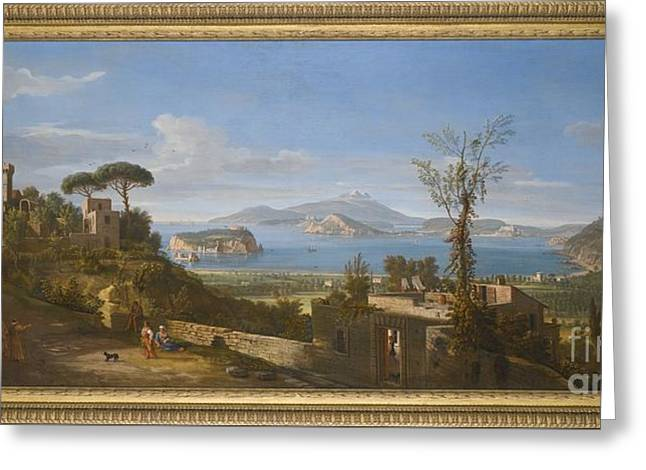 A View Of The Bay Of Pozzuoli, Near Greeting Card by MotionAge Designs