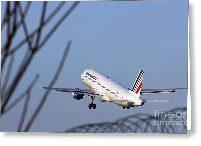 Air France Airbus A320 - Msn 491-002 - F-gjvw  Greeting Card