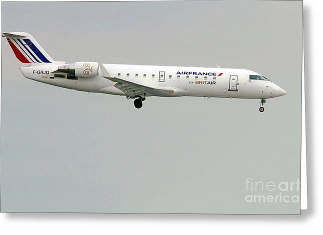 Air France By Britair Canadair- Msn 7321- F-grjq  Greeting Card