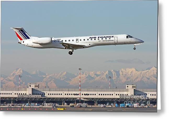 Air France Regional Airlines Embraer Erj-145eu - F-grgf  Greeting Card