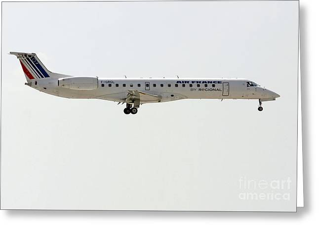 Air France Regional Airlines Embraer Erj-145eu - F-grgl  Greeting Card