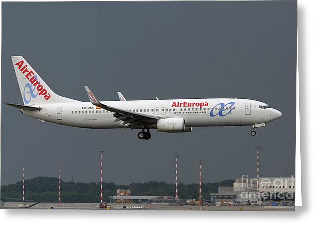 Aireuropa - Boeing 737-800 - Ec-jbk  Greeting Card