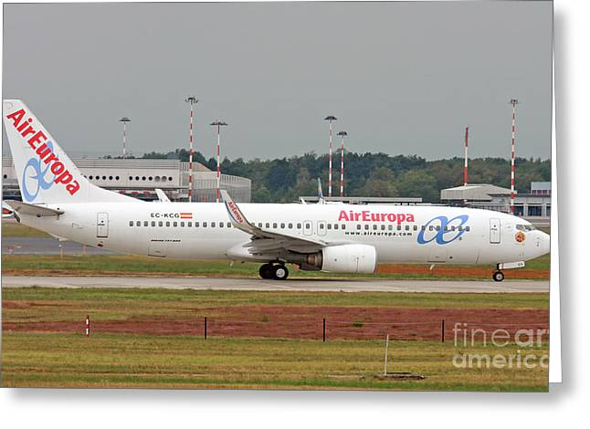 Aireuropa - Boeing 737-800 - Ec-kcg  Greeting Card