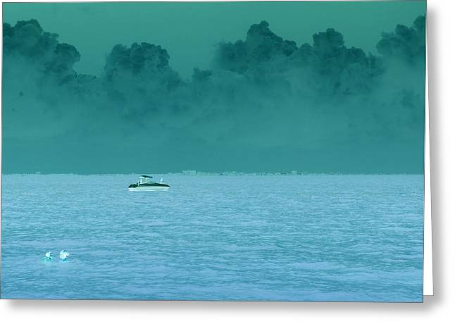 Approaching Storm  Greeting Card by Florene Welebny