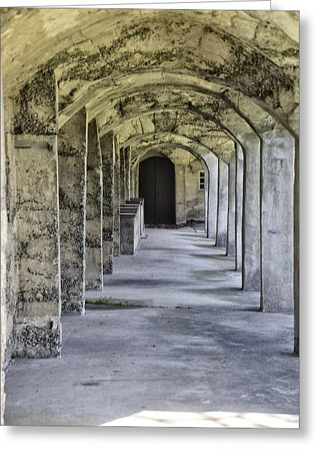 Archway At Moravian Pottery And Tile Works Greeting Card by Bill Cannon