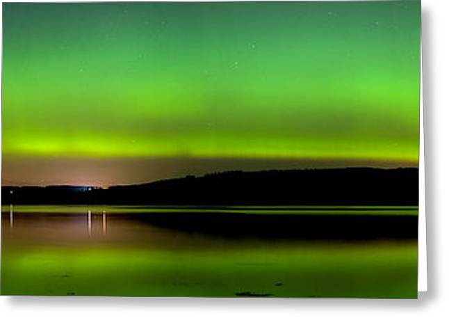 Aurora Over The Beauly Firth Greeting Card