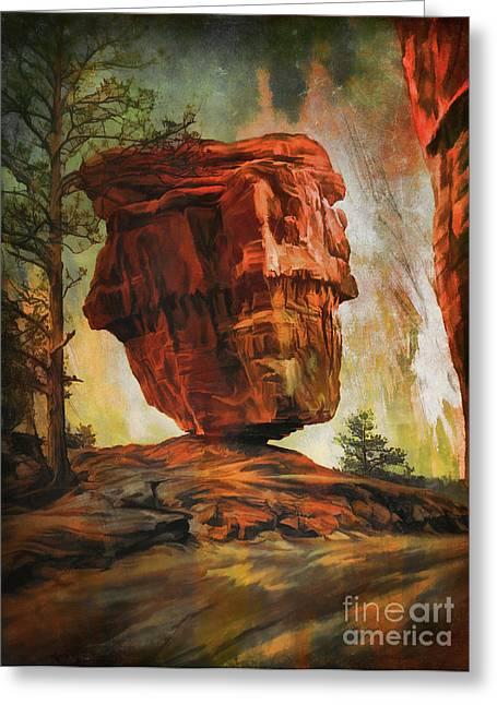 Balanced Rock  Greeting Card by Andrzej Szczerski