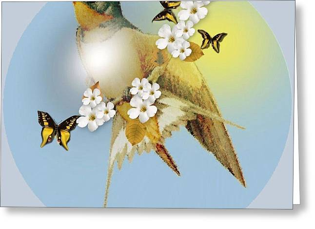 Barn Swallow Greeting Card by Madeline  Allen - SmudgeArt