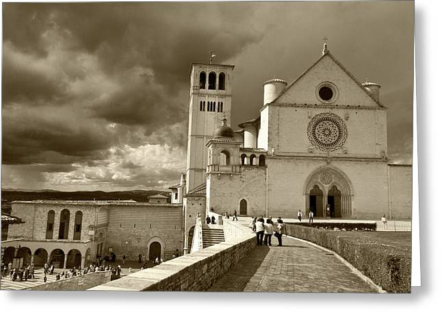 Greeting Card featuring the photograph  Basilica Of San Francesco by John Hix