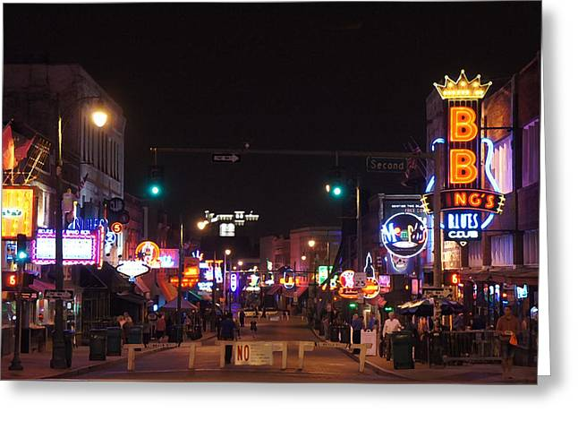 Beale Street, Memphis, Tn Greeting Card by Art Spectrum