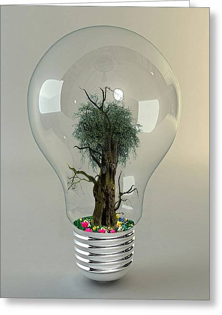 Beauty Within Life Bulb Collection  Greeting Card by Marvin Blaine