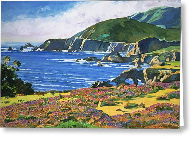 Big Sur Greeting Card by David Lloyd Glover