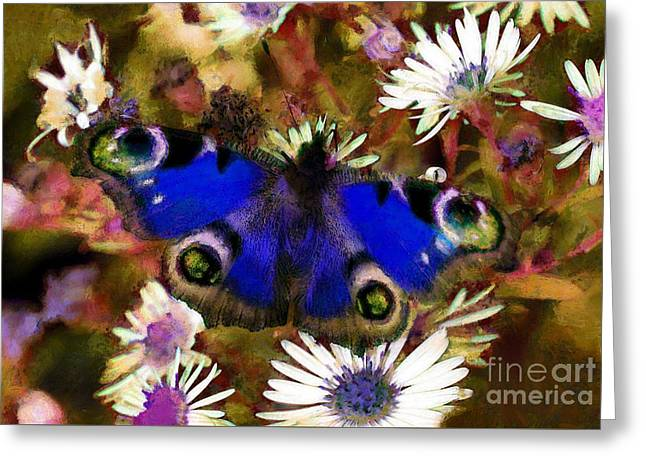 Blue Butterfly Greeting Card by Sergey Lukashin