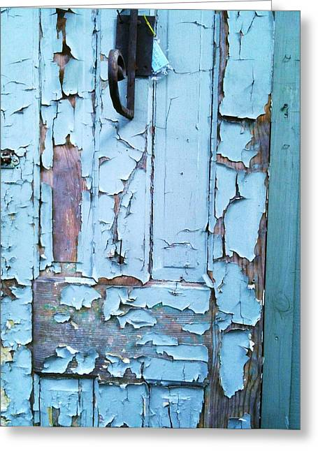 Blue Door In The Old South Greeting Card