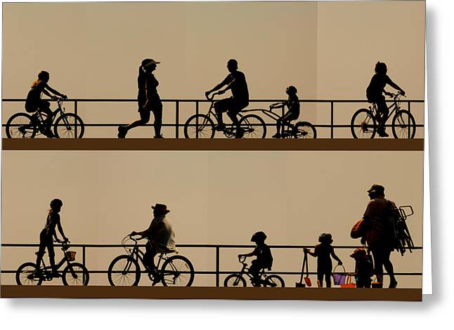 Boardwalk Movement Greeting Card by My Lens and Eye   - Judy Mullan -