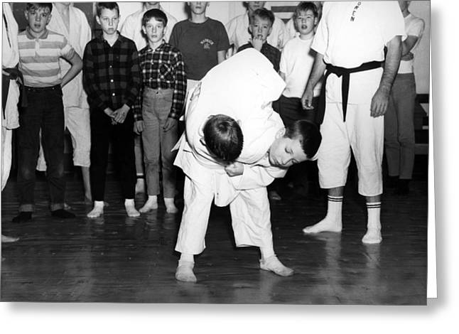 Sport martial arts greeting cards page 16 of 17 fine art america boys performing martial arts circa 1960 black greeting card m4hsunfo