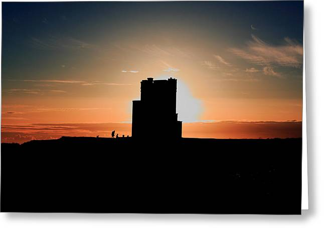 Brien's Tower At Sunset Greeting Card