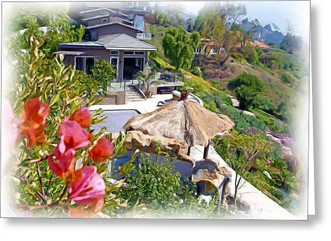 California House Greeting Card by Ralph Liebstein