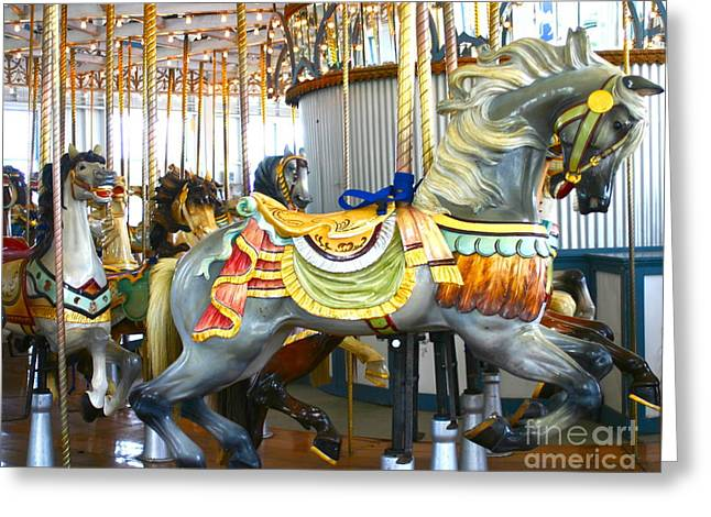 Carousel C Greeting Card