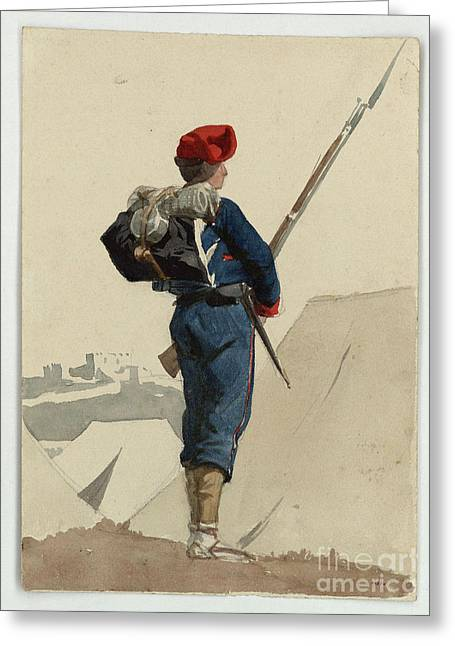 Catalan Volunteer For The War In Africa Greeting Card