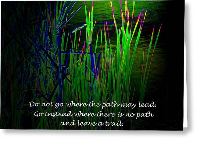 Cattail Reeds With Inspirational Text Greeting Card