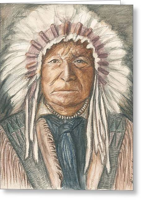 Chief Sitting Bear Greeting Card