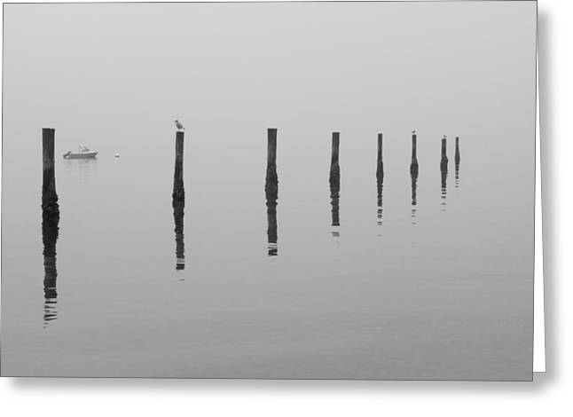 Fog And Reflections Greeting Card