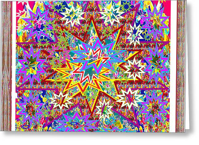 Christmas Festive Starry Night Abstract Presentation By Navinjoshi      Greeting Card by Navin Joshi