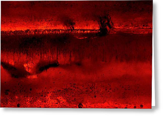 Chromatic Red Occurrence  Greeting Card by Robert Zuchowski