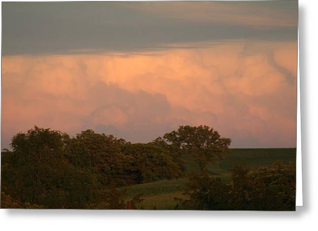 Clouds Of A Distant Storm Greeting Card by Linda Ostby