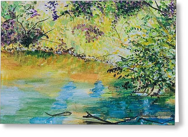 Creekside Greeting Card by Lucinda  Hansen