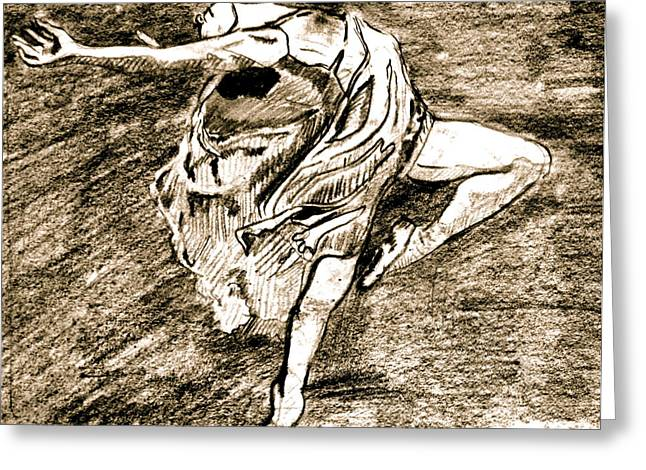 Dancer Greeting Card by Dan Earle